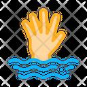 Saving Drowning Man Icon