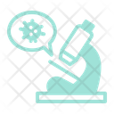 Research Microorganism Microscope Icon