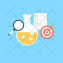 Research Market Flask Icon