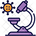 Microscope Experiment Lab Icon