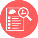 Research Report Clinical Testing Lab Report Icon