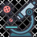Microscope Laboratory Virus Icon