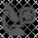 Virus Research Microscope Icon