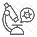 Virus Research Microscope Icon