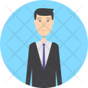 Reservation Man Character Icon