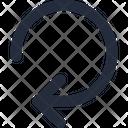Arrow Reset Left Icon