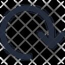 Arrow Reset Down Icon