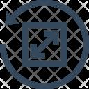 Reset Zoom Resize Icon
