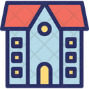 Agricultural Farmhouse House Icon