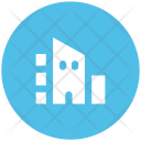 Residential Flats Building Icon
