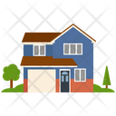Residential Building House Villa Icon
