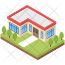 Residential House Building Icon