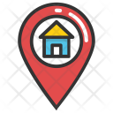 Residential Location Icon in Colored Outline Style
