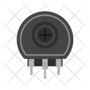 Variable Resistor Circuit Icon