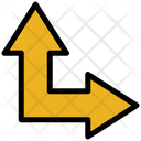 Up Right Arrow Resize Move Icon