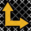 Arrow Up Right Arrow Resize Icon