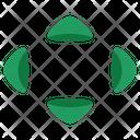 Arrow Resize Reduce Icon