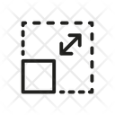 Resize Square Arrow Icon