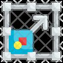 Resize Scalable Adjustment Diagonal Directional Icon