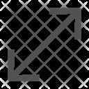 Resize Size Diagonal Icon