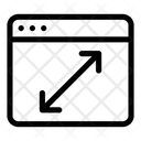 Resize Webpage Icon