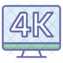 Pixels Resolution Screen 4 K Pixels Icon
