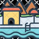 Resort Spot Holiday Destination Icon