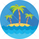 Resort Beach Trees Icon