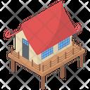Bungalow Cabin Cottage Icon