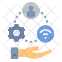 Management Network Operation Icon