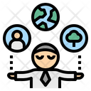 Responsibility Control Businessman Icon