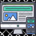 Responsive Monitor Website Icon