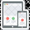 Responsive Design Adaptive Design Mobile Icon