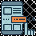 Mobile Web Design Icon