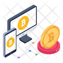 Online Business Bitcoin Business Responsive Design Icon