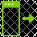 Move Webpage Right Icon