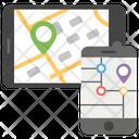 Responsive Navigation Gps Mobile Tracker Icon