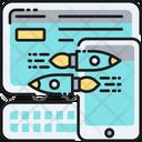 Responsive Website Responding Layout Responding Web Design Icon