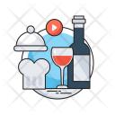 Restaurant Wine Platter Icon