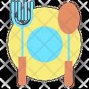 Iplate Spoon Fork Restaurant Cafe Icon