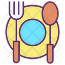 Iplate Spoon Fork Restaurant Cafe Icon
