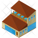 Restaurant Cafe Building Icon