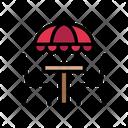Hotel Restaurant Umbrella Icon