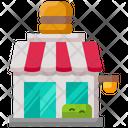 Burger Restaurant Store Icon