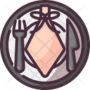Plate Dinner Dish Icon