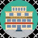 Restaurant Lodge Home Icon