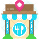 Restaurant Location Fast Food Location Meal Icon