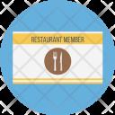 Restaurant Member Card Icon