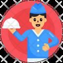 Chef Waiter Cloche Icon