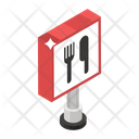 Road Sign Restaurant Sign Road Symbol Icon